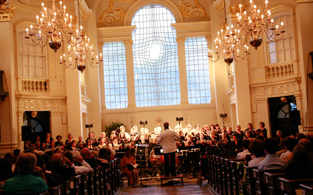 The London Chorus, performing at St Martin-in-the-Fields