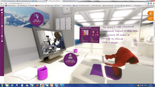 Screenshot of dementialab.org