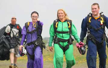 skydiver group