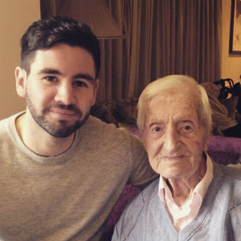 Chris Case with his grandfather Stanley Thomas Snr