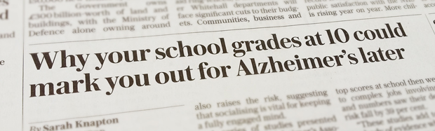 Headline from The Telegraph - A number of national papers newspapers have written about this research.