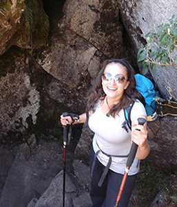 'Smiling on the outside but this was the end of the toughest day on the Inca Trail!' Vicky, Corporate Partnerships Team