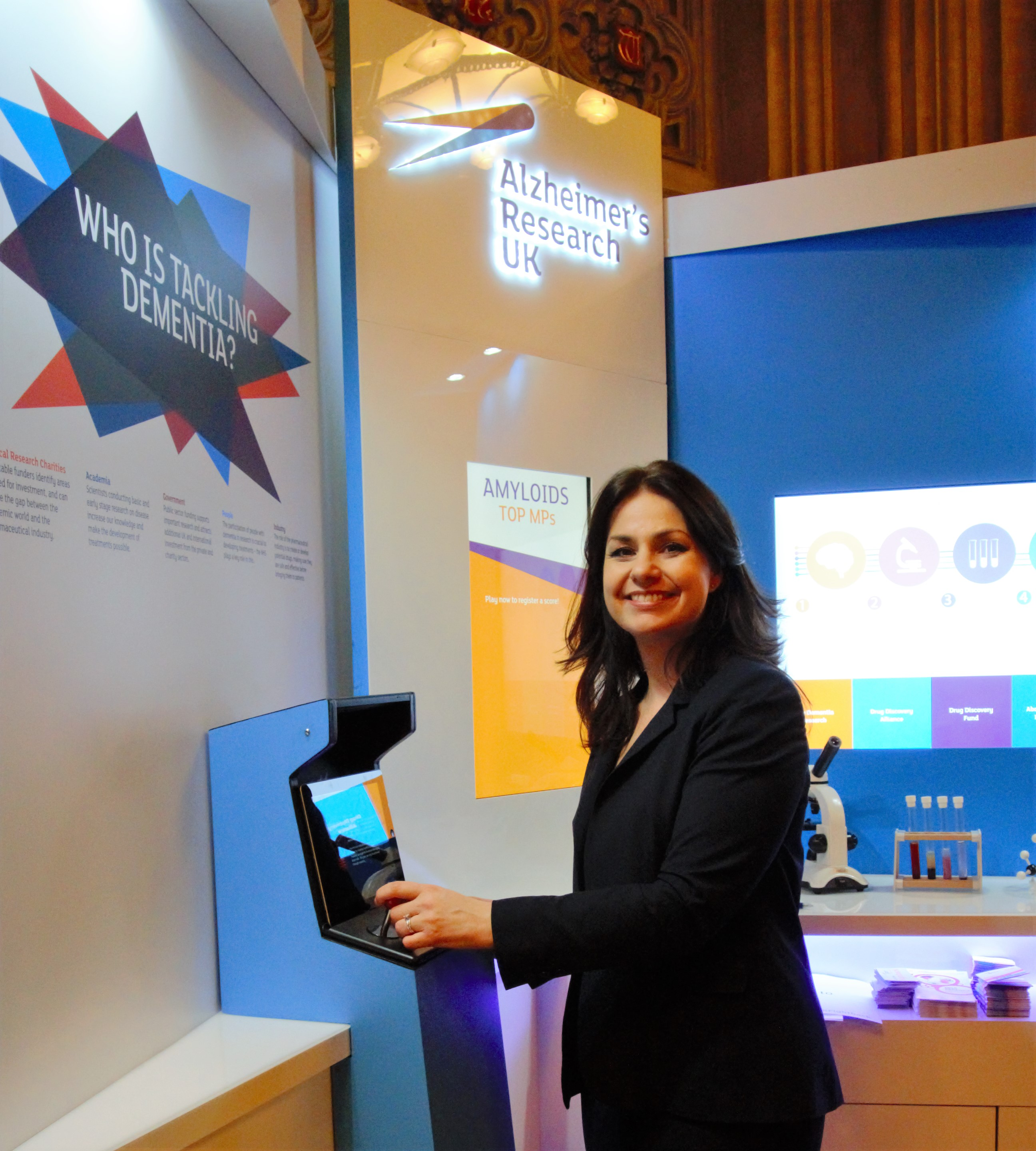 Cambridgeshire MP Heidi Allen visited the ARUK stand in Westminster