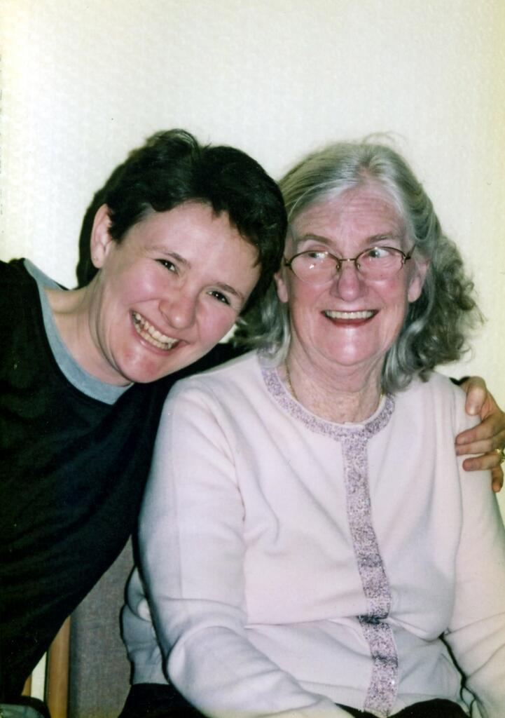 Irene Tracey and her mum Irene Tracey