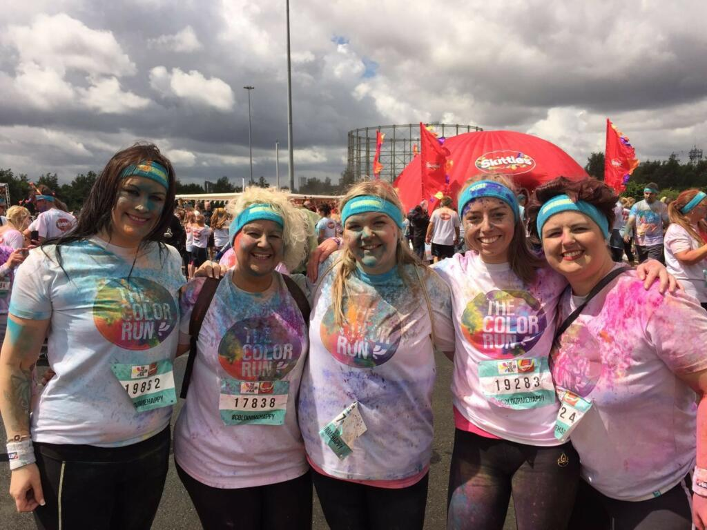 Axa staff s run through colour gives boost to pioneering dementia research alzheimer 39 s research uk - Axa insurance uk head office ...