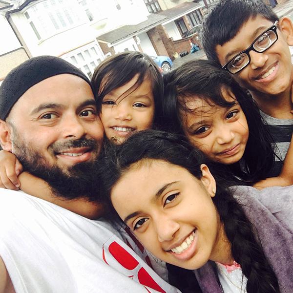 Emdad Rahman and family