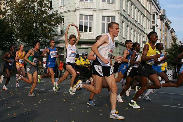 runners at the Berlin marathon