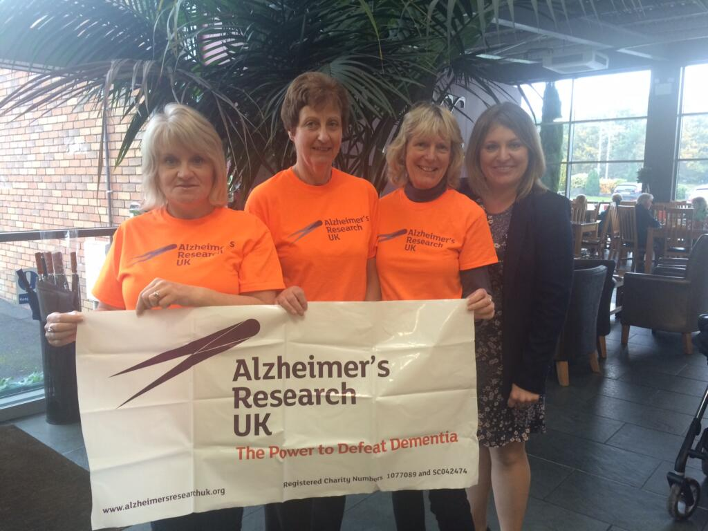 From L to R - Bernise Tasker, Diana Chadwick, Katie Foster and ARUK's Zoe Baggott
