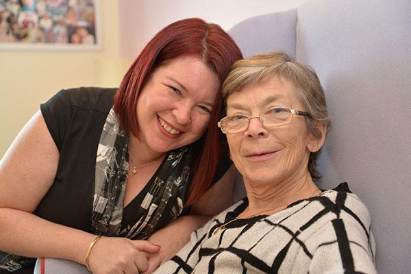 Amanda Franks and her mum Cathy Davidson