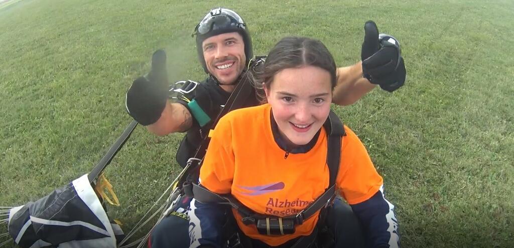 Amelia Dunne landing