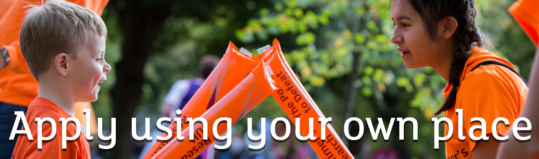 Join #TeamARUK using your own place, Alzheimer's Research UK