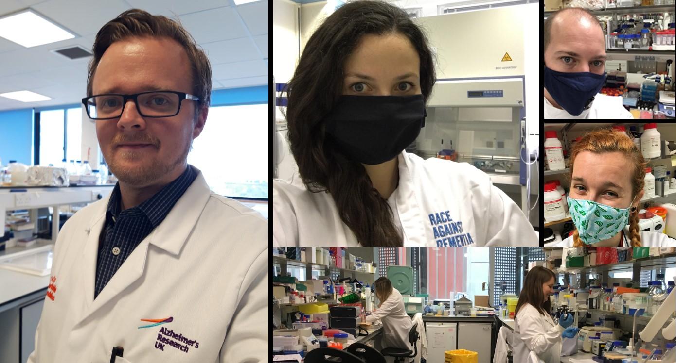 Dr Daniel Erskine, Dr Claire Durrant, Dr Steven Quinn, Dr Katie Askew and Dr Beatriz Gomez Perez-Nievas' lab.
