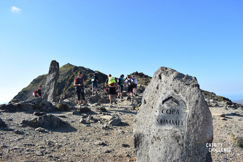 three peaks challenge group at peak