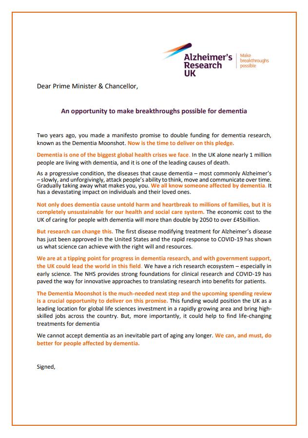 Chancellor letter new