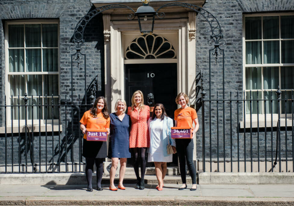 Carli Pirie, Helen Davies, Head of Public Affairs at Alzheimer's Research UK, Rachel Riley, Shaheen Larrieux and Emily Cook, Public Affairs advisor at Alzheimer's Research UK.