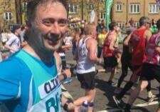 Clinton page participating in a marathon