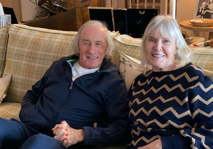 Sir Jackie and Helen at home during COVID-19